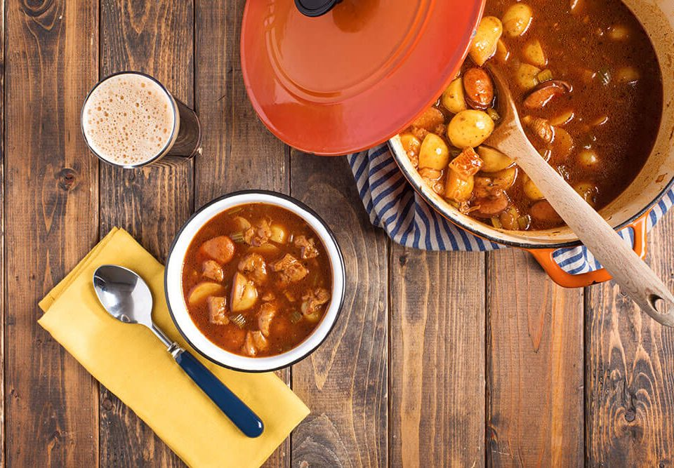 Tripe Sausage and Potato Stew