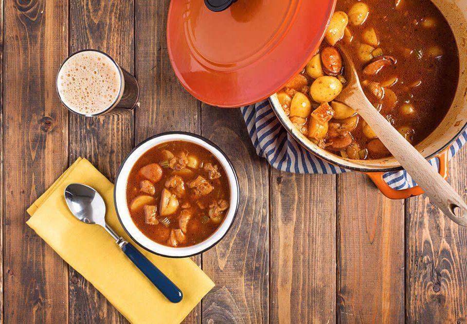 Tripe Sausage and Potato Stew